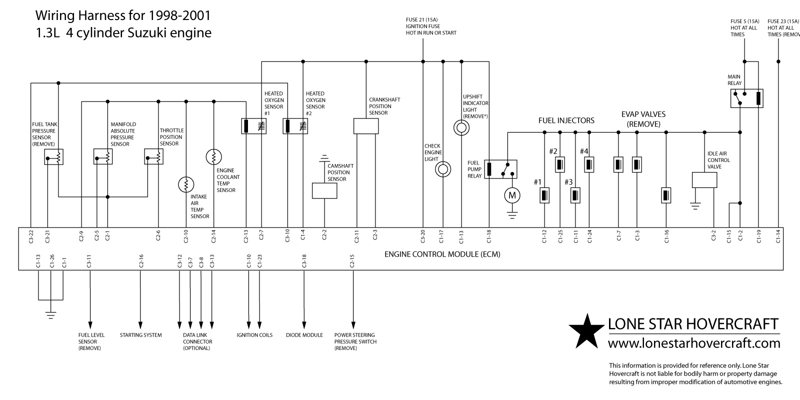 Wiring_Diagram_ECM_Connectors geo suzuki wiring 4.3 Vortec Wiring-Diagram at fashall.co