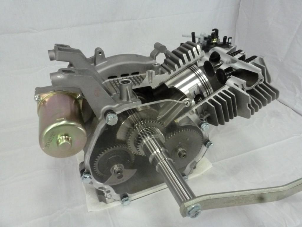 cutaway engine